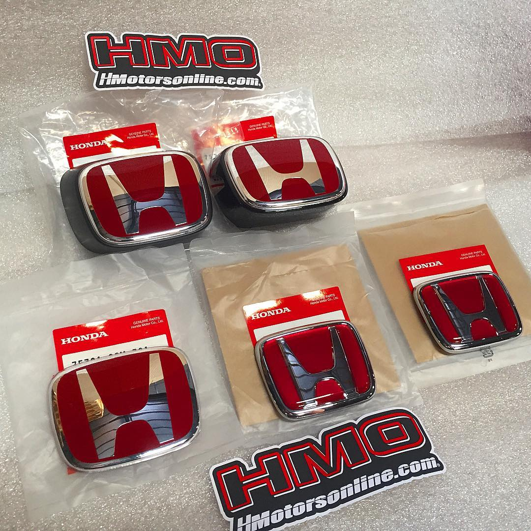 DC2 & DC5 (RSX) Brand New OEM Honda Front & Rear H Emblems