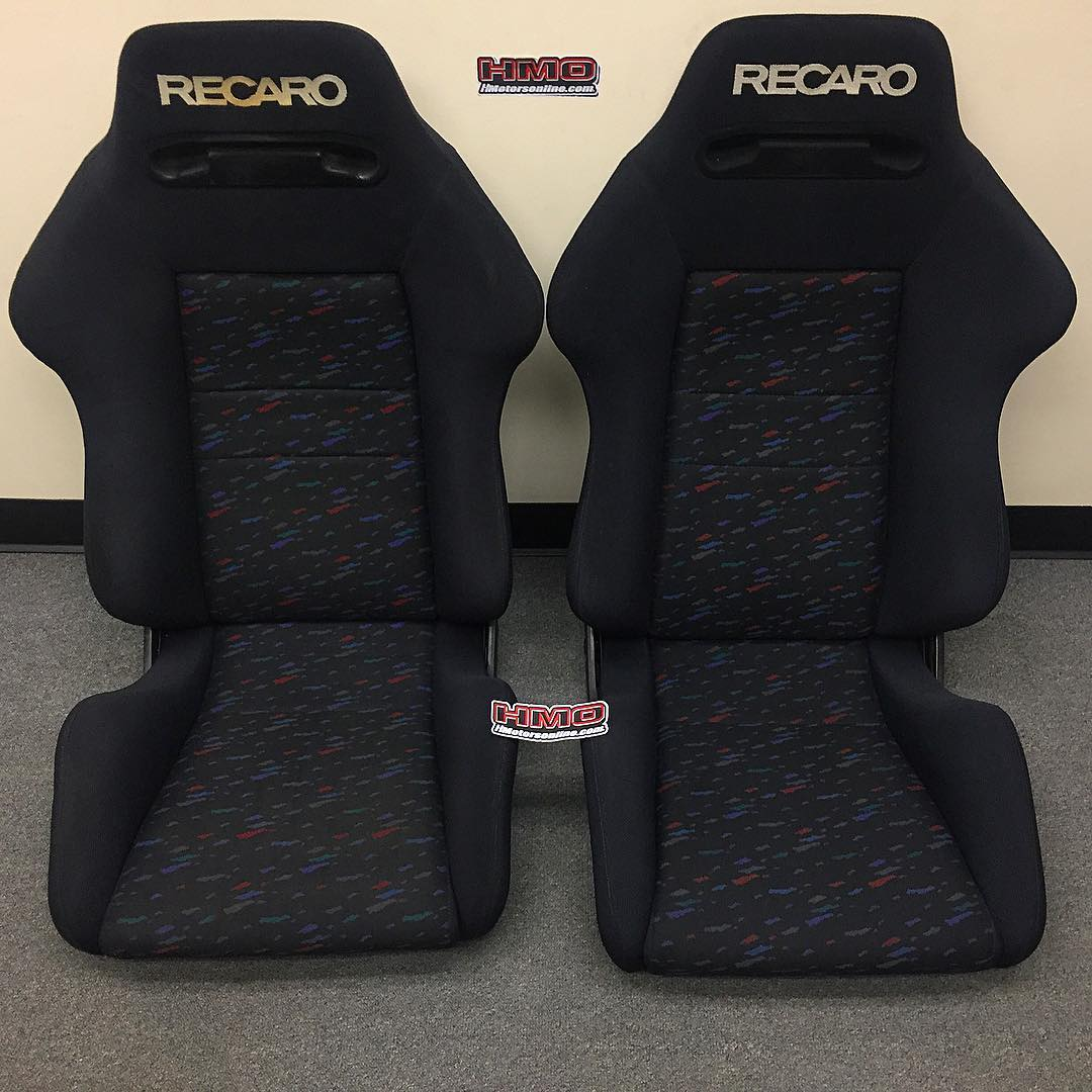 recaro sr2 lemans confetti seat set hmotorsonline. Black Bedroom Furniture Sets. Home Design Ideas