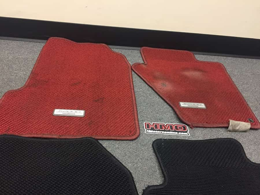 100 s2000 floor mats red ballade sports interior swap u003e black red to red red s2ki. Black Bedroom Furniture Sets. Home Design Ideas